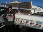 Matt after his First Solo