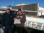 Matt and Rick after his First Solo
