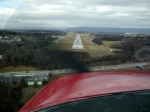 On final to Blacksburg, VA