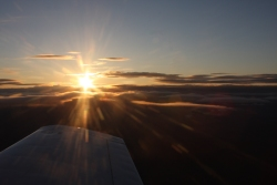 Mustang II above the Arctic Circle viewing the Midnight Sun