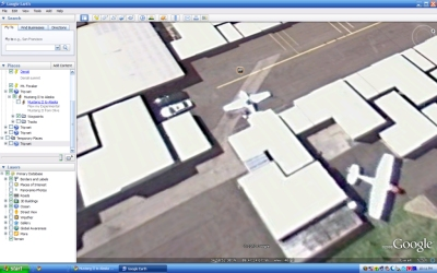 Google Earth's view on April 10, 2010