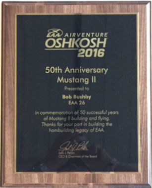 Bob plaque from the 2016 Homebuilders Banquet