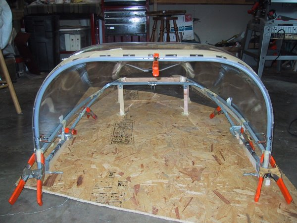 Canopy frame & Windshield / Canopy and Performance Modifications - Mustang II ...