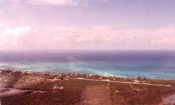 Rum Cay airport, on downwind for runway 13